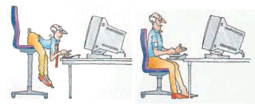 pour une meilleure ergonomie votre poste de travail mal de dos. Black Bedroom Furniture Sets. Home Design Ideas